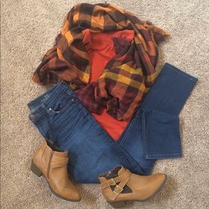 Accessories - Gingham Fall Harvest Scarf